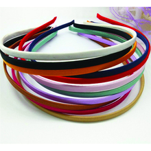 50 Pieces Free Shipping Wholesale Blank Solid Colors Fabric Covered Headband Metal 5mm Hair Band For Hair Accessories DIY Craft