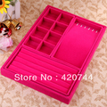 topstore  1PCS Necklace Beads Jewelry Magenta Display Case Box Tray Organizer 14x9""