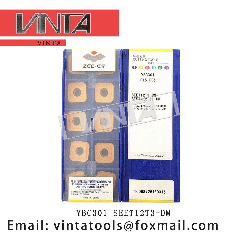 Бесплатная доставка Высокое качество 10 шт./лот YBM251 YBC301 YBC302 YBG202 YBG302 SEET12T3-DM cnc карбидные фрезерные вставки