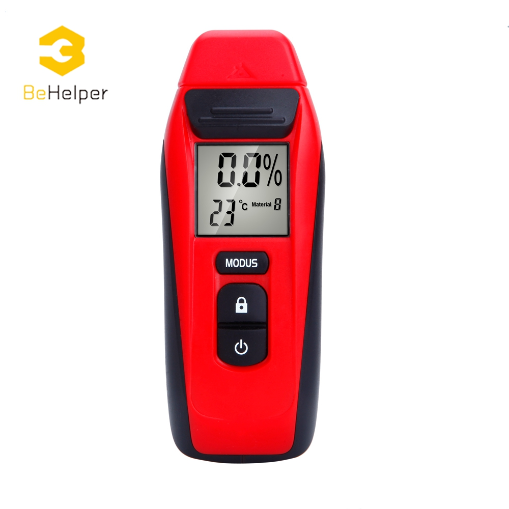 BeHelper Digital Display Wood Moisture Meter,0.001 Accuracy Timber Damp Detector,Hygrometer Humidity Tester Moisture Analyzer