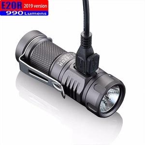 Image 2 - 2019 jetbeam e20r edc lanterna cree sst40 n4 bc led 990 lumen 4 modelo função de memória interruptor lateral 16340 lanterna