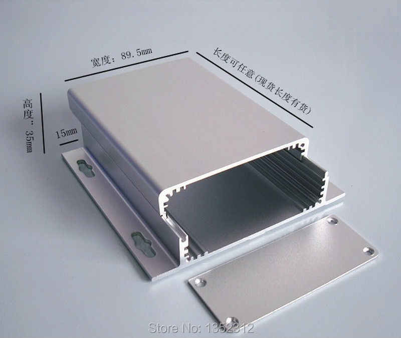 90*35*120 мм алюминиевый ящик для электронного проекта усилитель мощности случае pcb корпус DIY алюминиевый управления переключатель распределительная случае