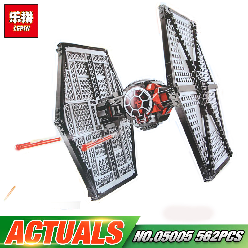 Lepin 05005 Star First Order Tie TIE Fighter Model Compatible legoings 75101 Wars Building Block Funny Bricks Kid Boys Gift Toys new 1685pcs lepin 05036 1685pcs star series tie building fighter educational blocks bricks toys compatible with 75095 wars