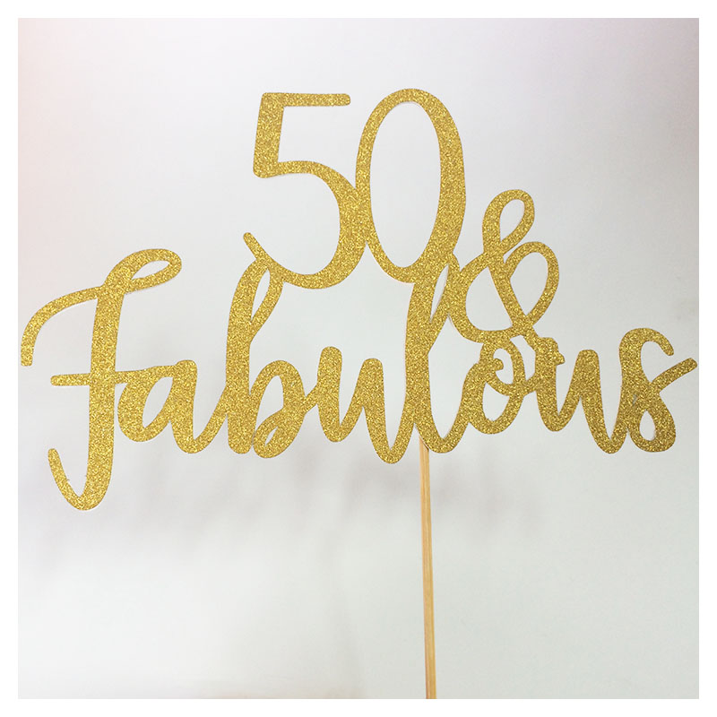 50 Abd Fabulou: Aliexpress.com : Buy 50 And Fabulous Fifty Cake Topper