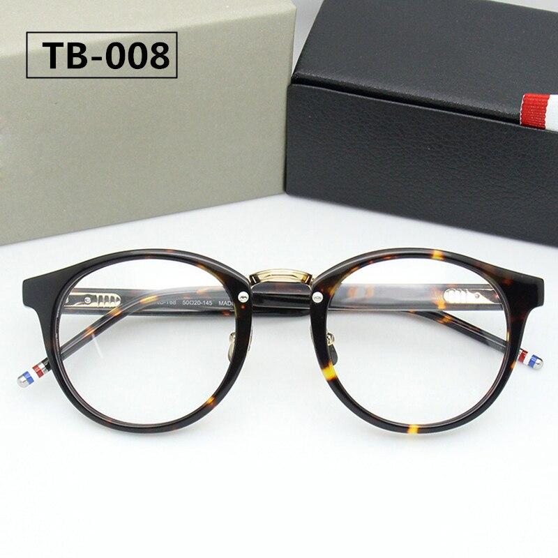THOM TB008 New York Brand Eyeglasses Frames Glasses Men And Women Fashion Glasses Computer Optical Frame With Box Mens High End