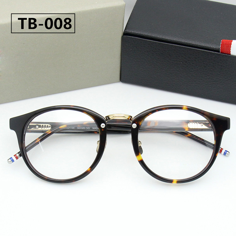 THOM TB008 New York Brand Eyeglasses Frames Glasses Men and Women Fashion Glasses Computer Optical Frame with Box Mens High End image
