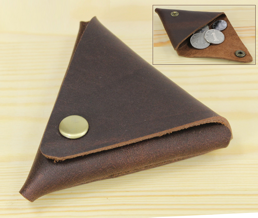 Handmade Vintage Genuine Leather Coin purse small Coin <font><b>Bag</b></font> Coin holder Creative Lovely Wallet little gift image