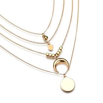 4pcs necklace for women necklace pendant necklace sieraden moon necklace SEJ0039 gold earrings for women