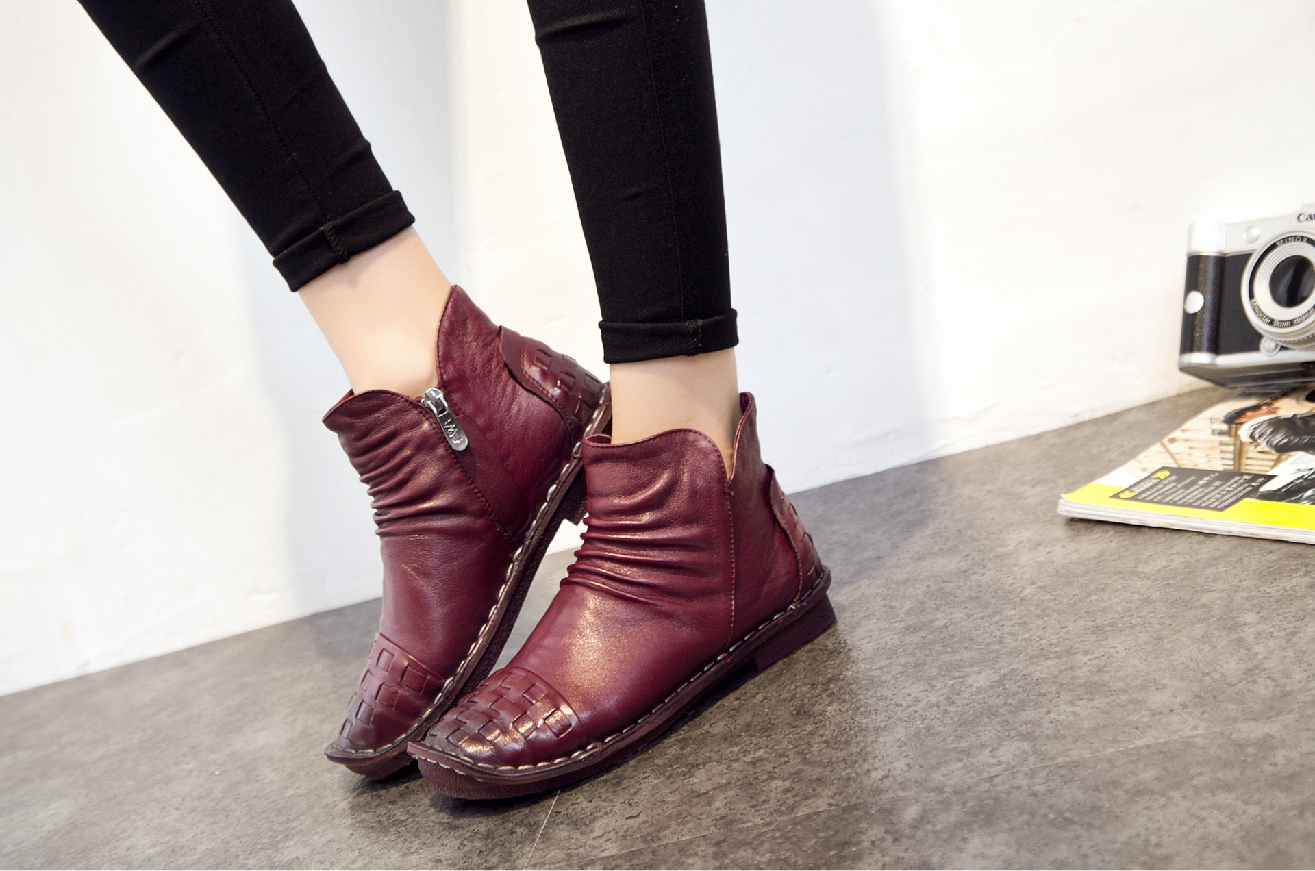 Mou Femelle D'hiver Vin Automne Chaussures 2018 Fond Enfants Bottes dxCQtsrh