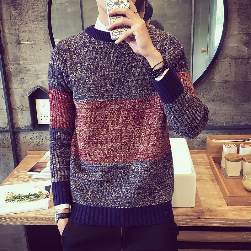 Men Famous Brand Autumn Pullover Solid Sweater Casual Man Slim Wools Knitted O-Neck Sweater