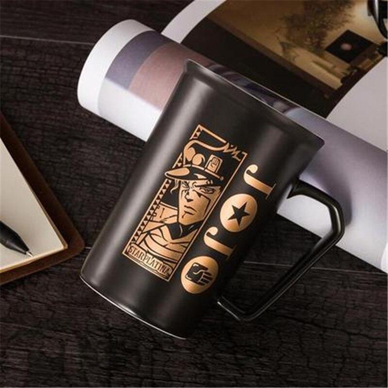 Anime New JoJo Bizarre Adventure Kujo Jotaro Cosplay Props Ceramics Cup Women Men 3D Printing Mug Tea Cup Thermos Cup Water Cup