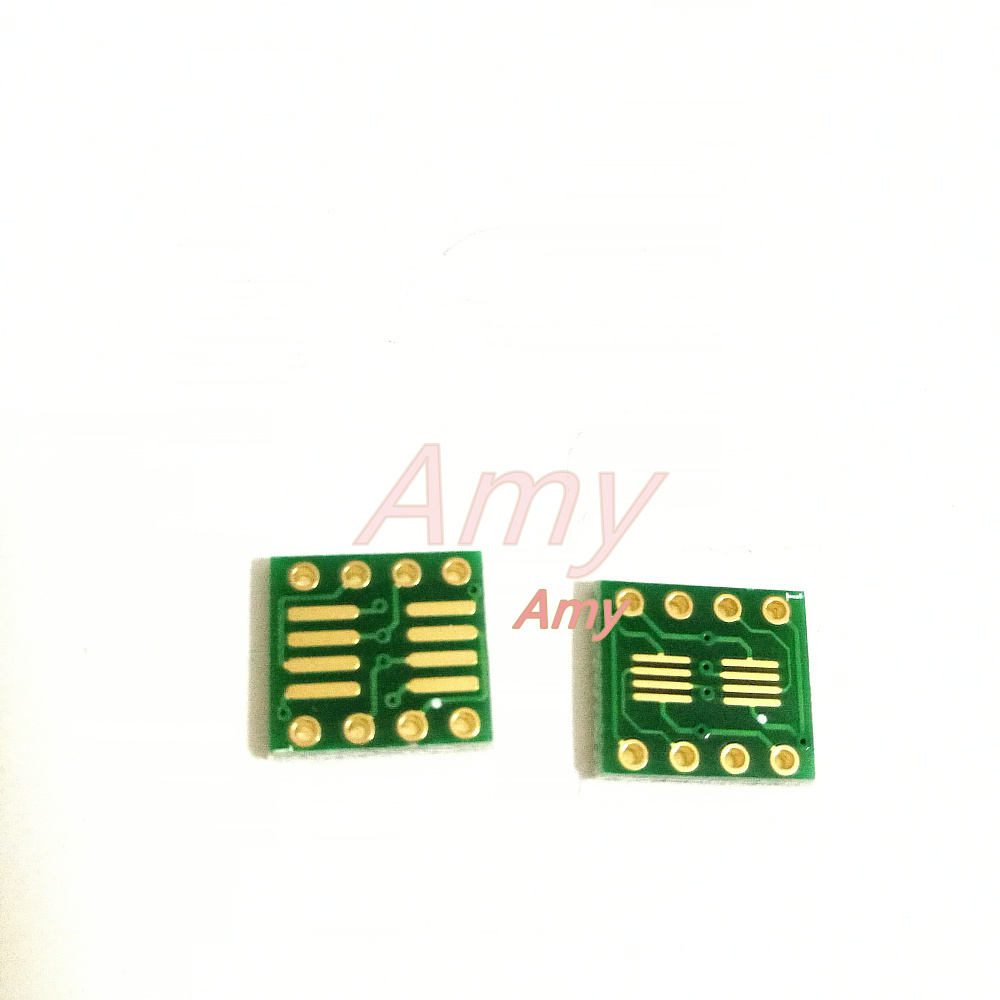 50pcs/lot sop8 turn dip8 seat SMD turn DIP op amp seat test socket converter board seat vssop8 sc70 conversion ...
