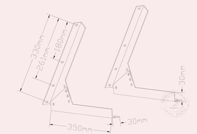solar panel 100w 12v bracket new