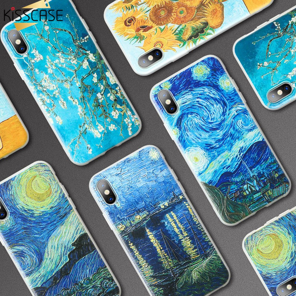 KISSCASE Phone-Case Van Gogh Xiaomi Mi A2-Lite Fundas-Cover 6A For Redmi 4x5/6a/6 Soft