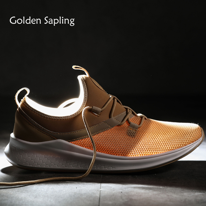 Golden Sapling Men Shoe Shoes Men's Sneakers Breathable Air Mesh Man Tennis Shoes Trainers Fitness Rubber Sole Top Sneakers Men цена