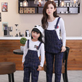 Tops+Overall Pants Family Clothing Mother Daughter Clothing Sets Mom and Daughter Clothes Family Set Parent-Child Clothing WH10