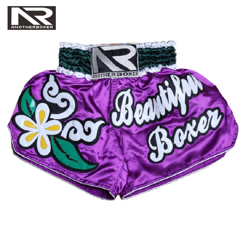 MMA Pantalonetas Rouge Muay Thai Pantalon De Boxe Boxeo Collants Lutte Femmes Sport Pantalon Muay Thai Boxe Prendre Impression MMA Shorts