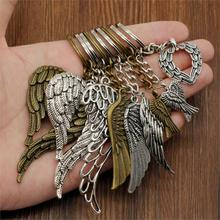 Hot sale New Angel Wing Keychain Car Pendants Key Chain For Metal Pendant Bag Cute Charm Handmade Gifts