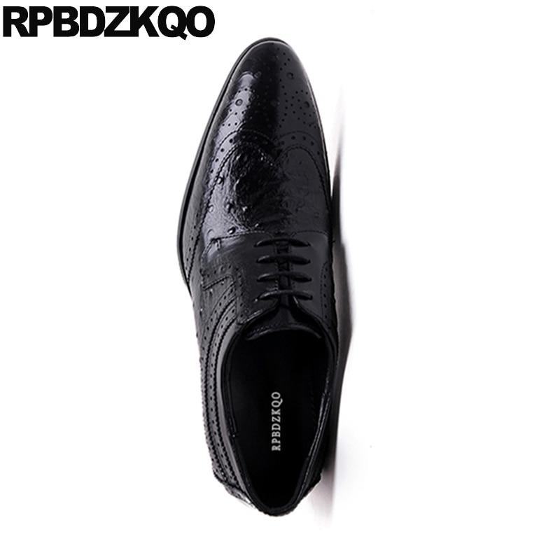 Borgoña De Cuero vino Los Negro Tinto Oficina Oxfords Elegante Boda Cocodrilo Negro Vestido Ala Oxford Zapatos Hombres Italiano Punta qwOOHdf