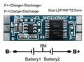 10 ШТ./ЛОТ Protection Circuit Module 2 S 4A БМС PCM ПЛАТА Защиты Аккумулятора Доска Для 7.4 В Литий-Ионный Батареи липо ячейки Пакет