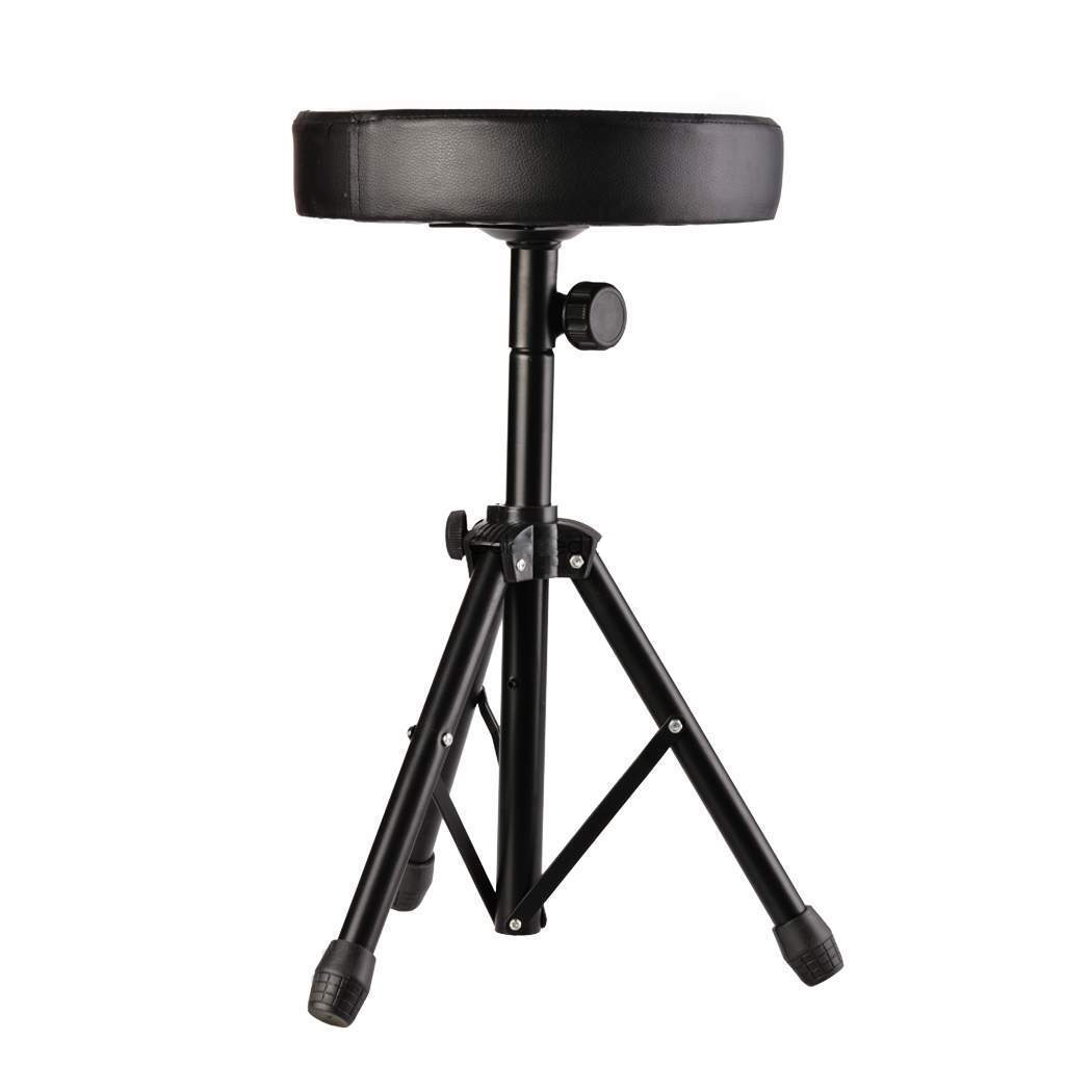 Professional Padded Drum Throne Seat Stool Stand Drumming Adjustable Chair ...