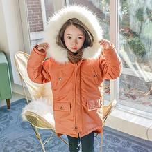 2016 new kids girls down jacket children winter jacket coat boy fur Fur collar outerwear parka boys jackets overcoat 110-150