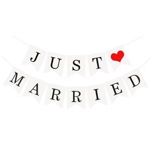 Image 4 - Wedding Buntingเพิ่งแต่งงานPhoto Booth Propงานแต่งงานงานเลี้ยงงานแต่งงานงานตกแต่งธงแบนเนอร์