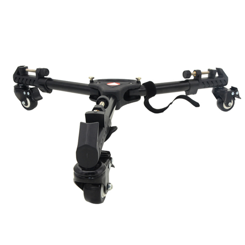 Kingjoy Professional Tripod Base Stand  Photography 3 Wheels Pulley Adjustable Tripod Dolly Max Load 20KG