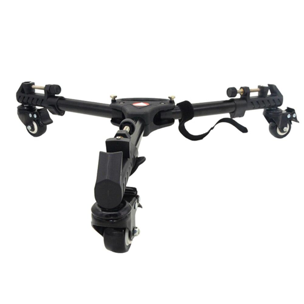 Kingjoy professionnel trépied Base support photographie 3 roues poulie réglable trépied Dolly charge Max 20 KG