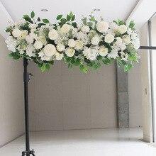 50/100 см пользовательские искусственный свадебный цветок стены расположение поставки ряд цветов олень Декор романтический DIY Утюг с аркой KGH005