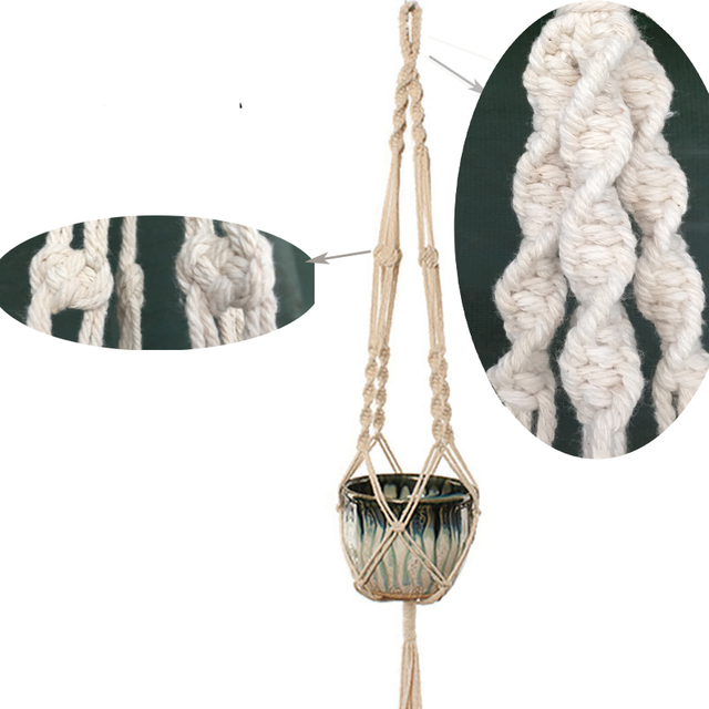 100% Handmade Macrame Plant Hanger Flower Pot