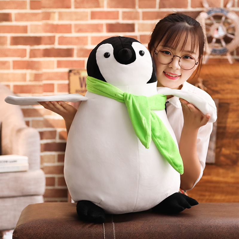 70cm Cute penguin stuffed doll soft animal with scarf Cartoon movie figure fan plush toy sofa decor christmas gift for children