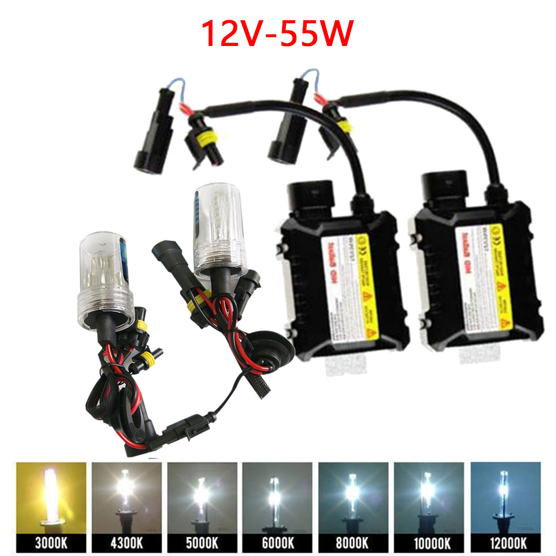 Tonewan New H7 Xenon HID Kit 55W H1 H3 H4 H8 H9 H11 9005 HB3 9006 HB4 881 H27 lamp for car headlight car styling xenon H7 car 50w 5600lm led headlight canbus kit for 9006 hb4 low beam xenon white replace hid 9005 hb3 9006 hb4 h7 h8 h11 available