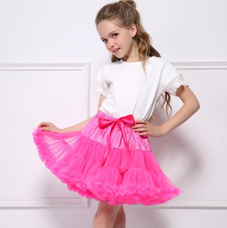 0-2 Jahr Puffy Tüll Baby Mädchen Tutu Rock Flauschigen Kinder Ballett Baby Mädchen Pettiskirt Prinzessin Party Dance Rot Rose Röcke