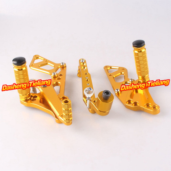 Adjustable Shift Foot Pegs Rear Set Footrests Replacement Kit For Suzuki GSXR 600 750 2011-2014 K11 Motorcycle Accessory Parts
