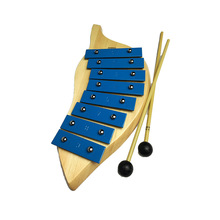 Kids Toys 8 Notes Musical Xylophone Piano Leaf Shape Orff Educational Musical Instrument