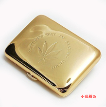 New 1 PCS High quality Golden/Silver ( 16 cigarette case) cigarette boxes with gift box - SQ320