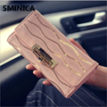2016 fashion female wallets High-quality Leather Sweet Lady Wallet Women Long Style Purse Card Holder wholesale and retail