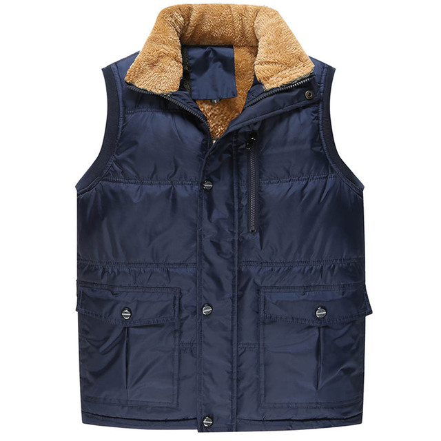 Fashion Sleeveless Jacket 2018 Men Thickening Vest Hat Hooded Warm Vest Winter Waistcoat Men Casual Windbreaker JK18029