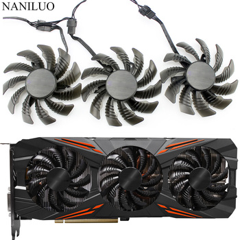 75MM T128010SU 0.35A Cooling Fan For Gigabyte AORUS GTX 1080 1070 Ti G1 Gaming Fan GTX 1070Ti G1 Gaming Video Card Cooler Fan new 75mm t128010su cooler fan gigabyte aorus geforce gtx1070 1080ti g1 gtx1660 ti card cooler fans