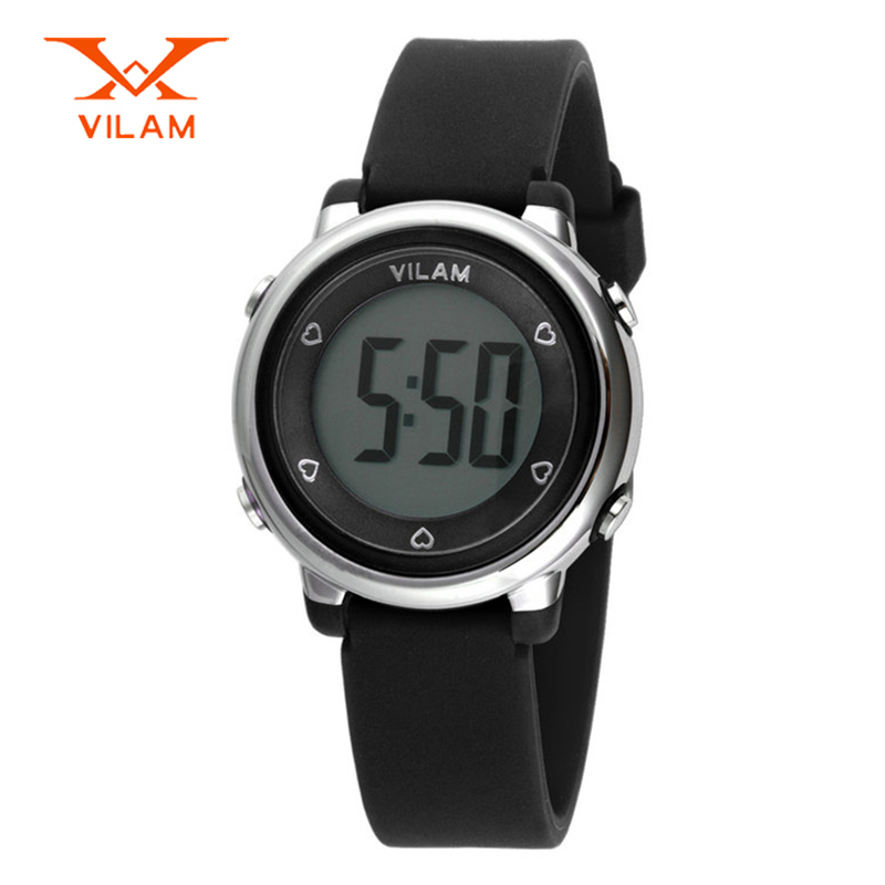 VILAM full liquid crystal children digital watch 50ATM waterproof kids wristwatch swimming watch sport led watch VL06035