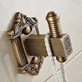 Антикварная крючок латунь Медь двери Крючки для одежды Полотенца вешалка один двойной крюк Винтаж Аксессуары для ванной комнаты