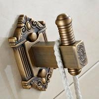 Antique Coat Hook Brass Copper Door Hooks For Clothes Towel Hanger Single Double Hook Vintage Bathroom Accessories