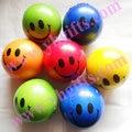 24 PÇS/LOTE, PU bola macia bola cara do Sorriso, brinquedos Do Bebê brinquedos Interativos brinquedos Dos Miúdos, Smash ball, 6.3 cm, 5 cores, atacado Frete grátis