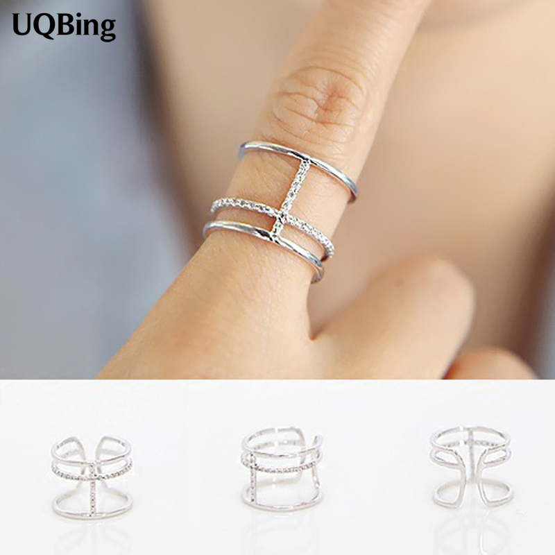 2016 Free Shipping 925 Silver Cross Rings For Women Jewelry Finger Rings For Party Birthday Gift ...