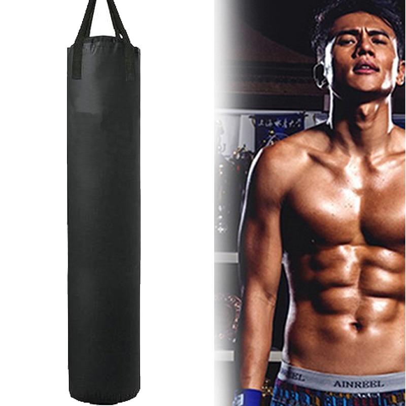 Leere Kick Boxing Tasche 100 cm/115 cm/162 cm/178 cm Training Fitness Stanzen Tasche Saco de Pancada Boxeo Haken Hängen MMA Kampf Sandsack