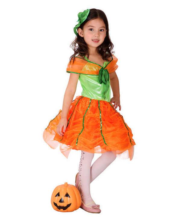 גבוהה באיכות דלעת נסיכת תמונה Cosplay תלבושות ליל כל הקדושים מסיבת ריקודי יופי ילדה תחפושת תלבושות לילדים