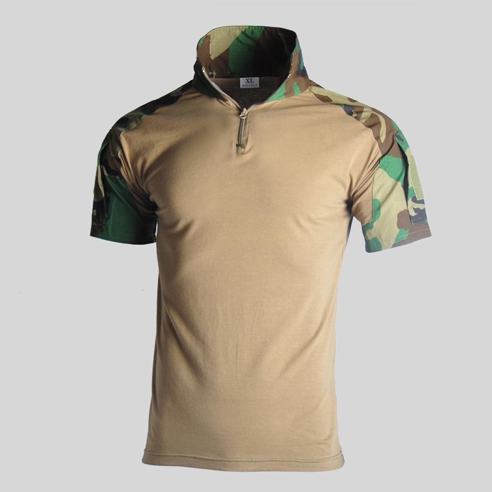 Assault Camouflage Tactical T Shirt Men Short Sleeve US Army Frog Combat Tees Shirt Summer Multicam