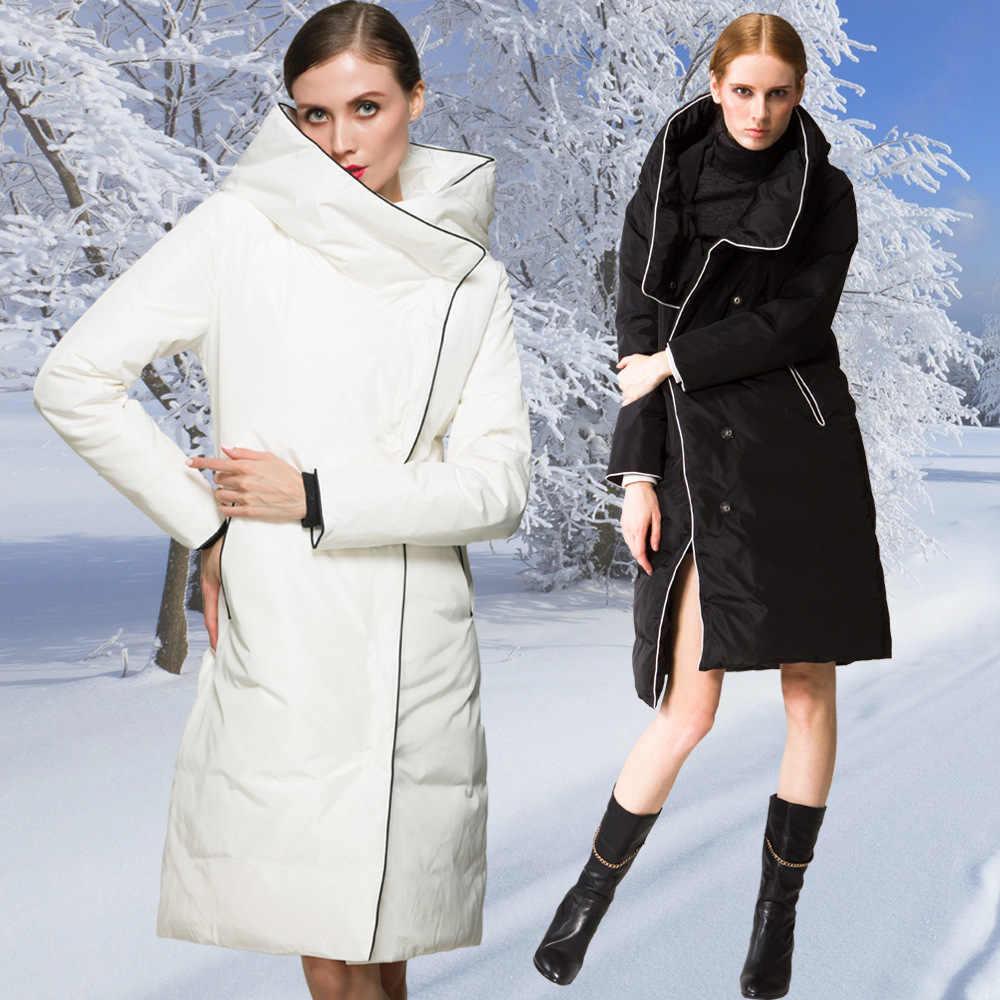 Высокое качество, модный дизайн, зима 2017, роскошный Европейский Стиль, женские длинные пуховики, супер пуховик, Женское пальто