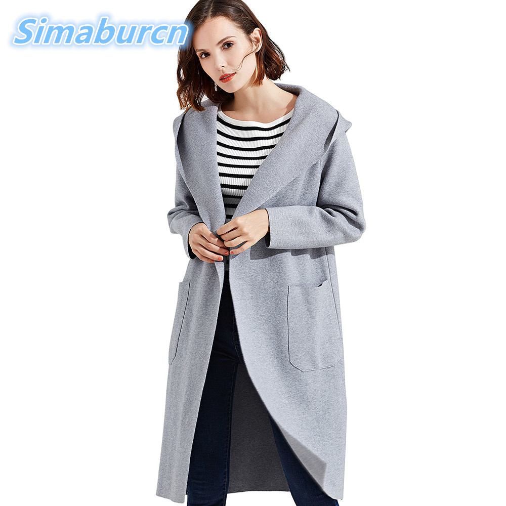 Fashion Women Long Sweater Pockets Women Cardigans Solid Ladies Sweaters Cardigans Knitted Woman Open Stitch Outerwear Coat